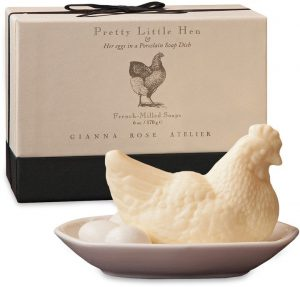 hen with eggs soap dish set