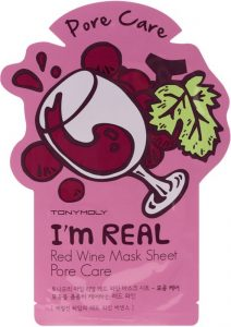 red wine face mask