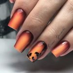 ombre halloween nails