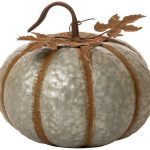 rustic iron galvanized pumpkin